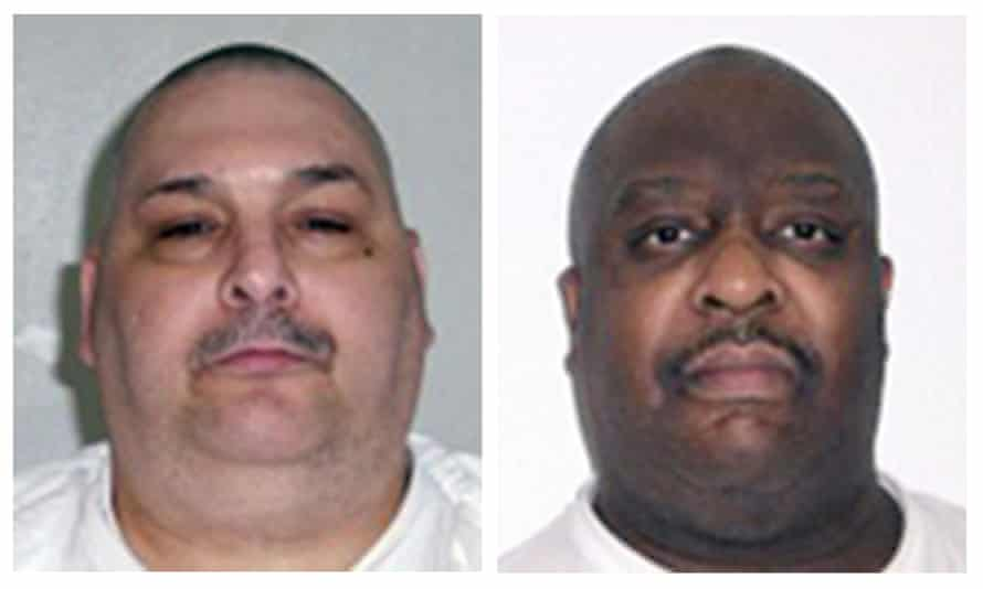 Jack Jones, left, and Marcel Williams admit their guilt but fear their health conditions could lead to extreme pain during their judicial killing.