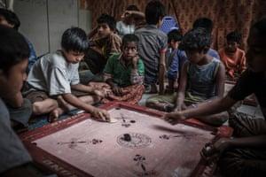 Akash at the Save the Children/INCIDIN Bangladesh shelter