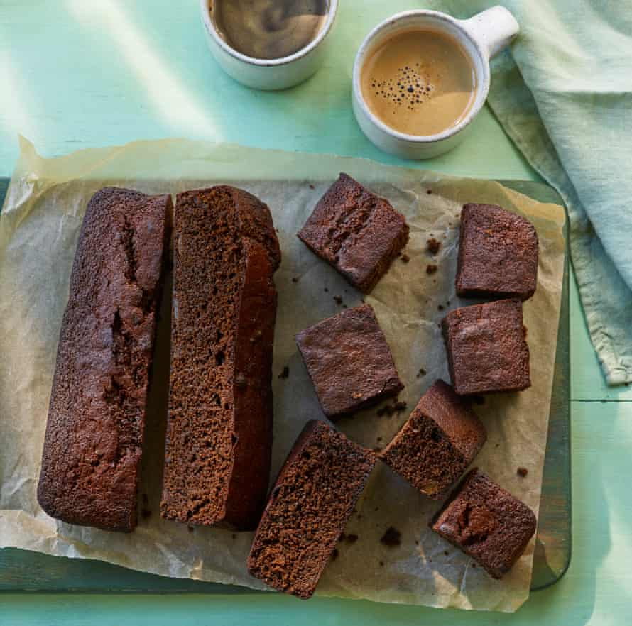 Rich dark ginger cake.