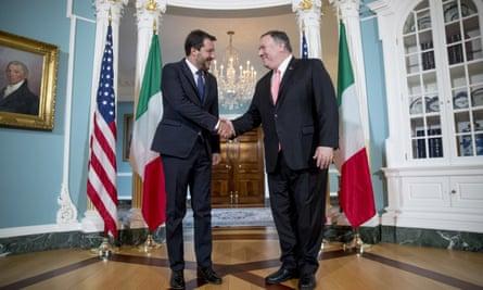 Matteo Salvini and Mike Pompeo