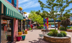 Shops in the Uptown Mall on Main Street, Sedona, Arizona, USA
