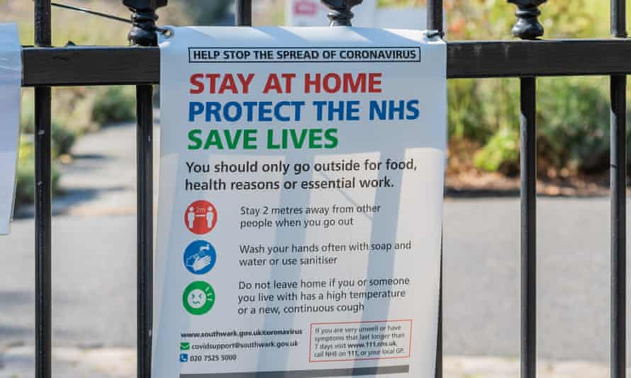 Stay at home, save lives poster