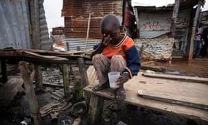 A child in the slum