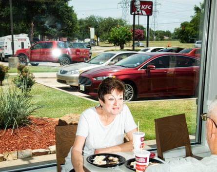 Janet and Richard Bogdon at a KFC in Plano, near Dallas, Texas.