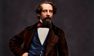a newly colourised photograph of Charles Dickens.