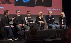 Jez Butterworth, Paris Lees, Joely Richardson, Tom Courtenay and Rita Tushingham during the Working-Class Heroes event.
