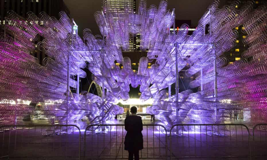 Ai Weiwei's Forever Bicycles. Nuit Blanche, Toronto, Canada