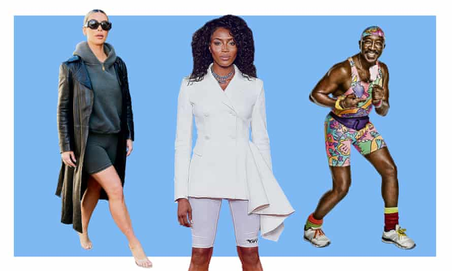 Composite of Kim Kardashian, Naomi Campbell and Mr Motivator.