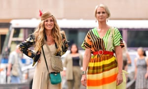 Sarah Jessica Parker and Cynthia Nixon on the set of And Just Like That