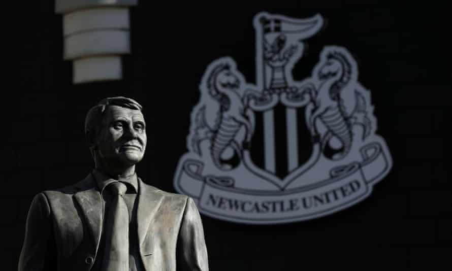 Sir Bobby Robson's statue outside Newcastle's St James' Park stadium