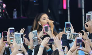 There for her fans: Ariana Grande performing in 2015