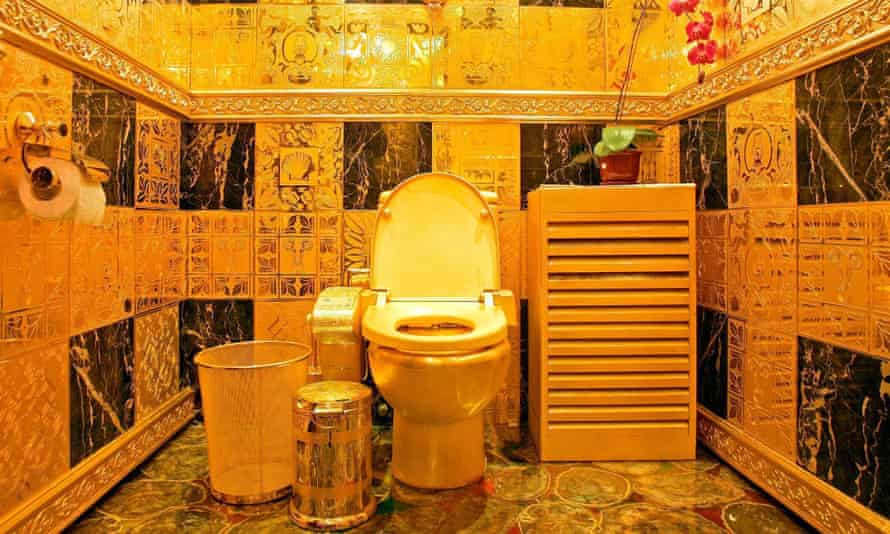 Solid gold and gem-encrusted toilet