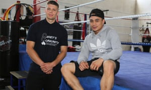 Youth worker Rory Bradshaw, left, and boxing coach Giz Chu at Carney's Community centre in Battersea.
