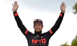 Adam Blythe, pictured after winning the 2014 RideLondon Classic, said it will be 'a dream' for him to support Peter Sagan at Tinkoff-Saxo