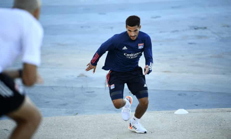 Lyon's Houssem Aouar is much in demand around Europe.