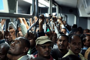 The new Addis Ababa light rail transit system is sub-Saharan Africa's first light rail system. It will carry 60,000 passengers an hour when fully operational.