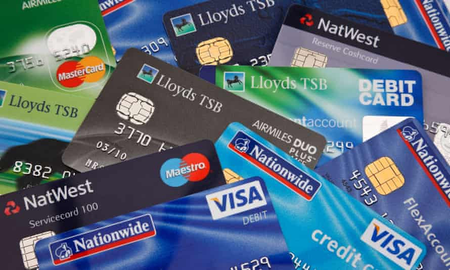 Various credit cards and bank cards