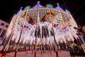 Dome and Arches, a fairytale structure studded with tens of thousands of LED lights to create a winter wonderland that dominates the Market Place