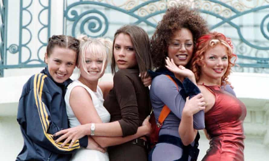 The Spice Girls at the Cannes film festival in 1997.