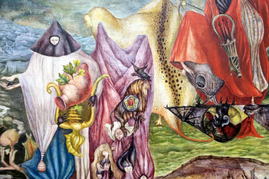 Detail from Chiki Ton Pays by Leonora Carrington.