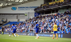 A limited number of supporters were allowed into Brighton's friendly at home to Chelsea on 29 August.