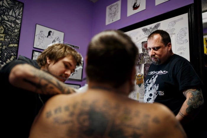 31e6068ba Erasing the hate: the tattoo shop offering former white supremacists a  fresh start | US news | The Guardian