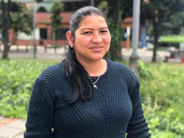 Sandra Vera, in Colombia in 2017