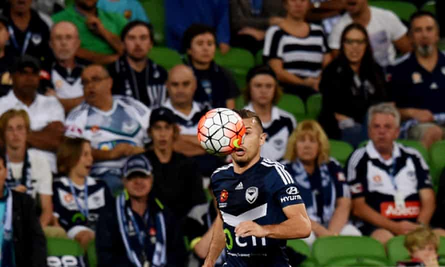 Kosta Barbarouses, who arguably should have been sent off for a studs-up challenge, scored Melbourne Victory's goal in the 1-1 draw with Sydney FC.