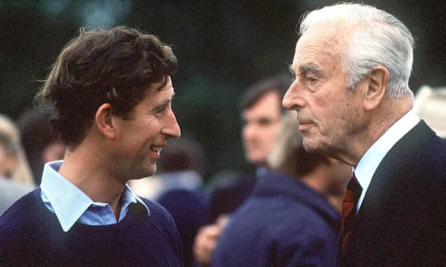Prince Charles with Lord Mountbatten in 1979.