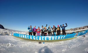 Ice Canoeing, Quebec, Canada