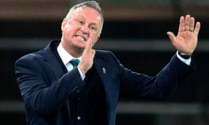 Northern Ireland's manager Michael O'Neill on the touchline during the recent match against Germany.