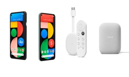 Google Pixel 5, Pixel 4a 5G, Chromecast with Google TV and Nest Audio