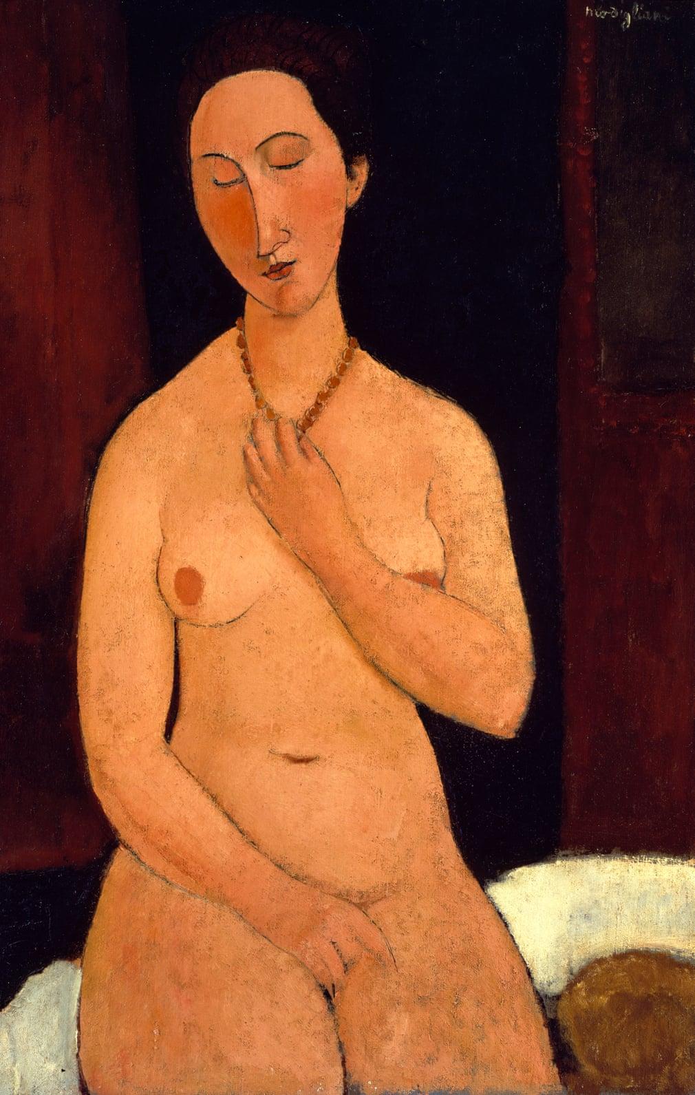 Amedeo Modigliani 'Nu assis au collier'