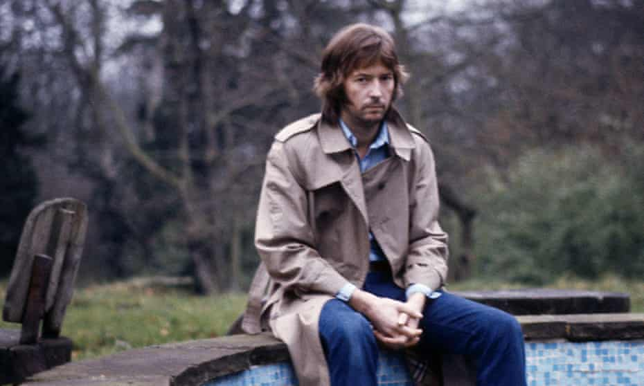 Clapton at home in Hurtwood Edge, Surrey in the 1970s.