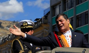 Ecuador's president, Rafael Correa, who has vowed to promote wage equality.