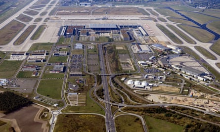 An aerial view of Berlin's new airport.