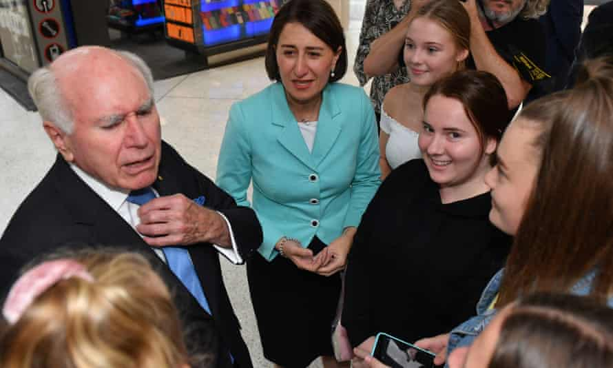 John Howard on the campaign trail in Penrith with Gladys Berejiklian