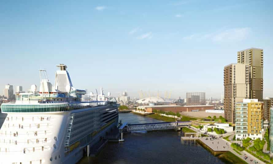 Designs for Enderby Wharf in Greenwich, London's first international cruise terminal.