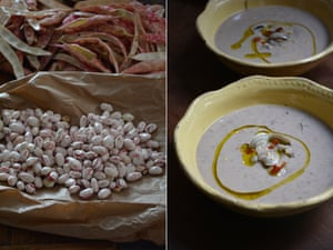 Rachel Roddy's bean and clam soup.