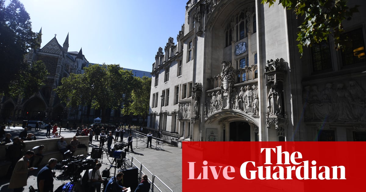 Brexit: 'Mother of parliaments shut down by father of lies', QC tells court in jibe at Boris Johnson – live news