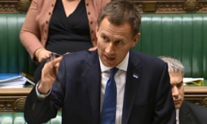 Jeremy Hunt speaks during a debate on the NHS in the House of Commons
