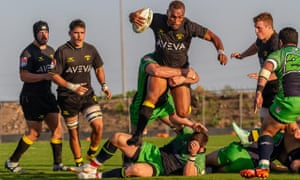 The Houston SaberCats attack against Seattle at their new home, the Aveva Stadium.