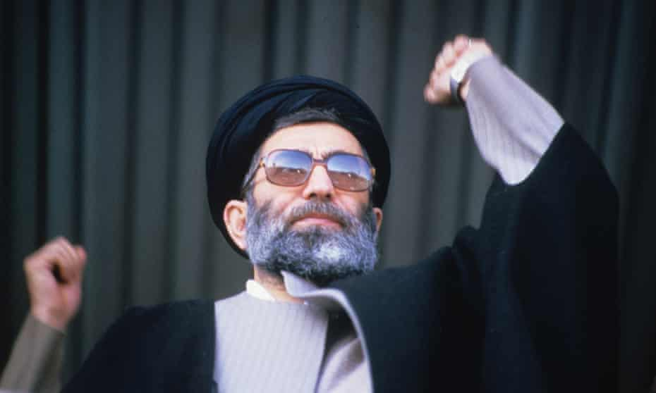 Talks of 'economic jihad' go back to the 1979 Revolution and the heroism of the 1980-88 war with Iraq. Ali Khamenei, then president, speaking on the anniversary of the Iranian Revolution, in 1986.