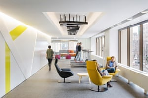 Treadmill desks at Autodesk's Spear Tower office, San Francisco
