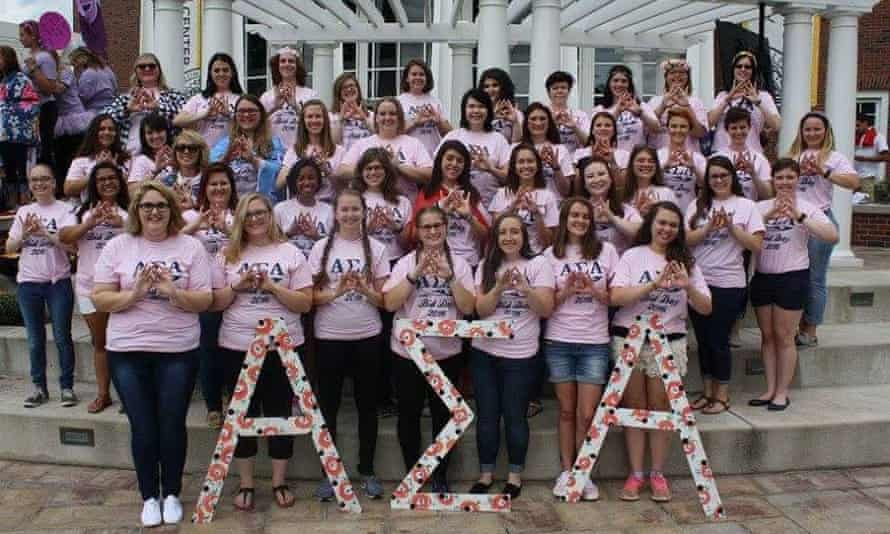 Alpha Sigma Alpha Bid Day in 2016.