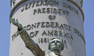 The statue of Confederate president Jefferson Davis on Monument Avenue in Richmond, Virginia, has been recommended for removal.