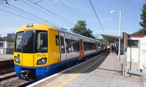 London Overground train at Gospel Oak