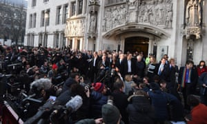 Lead claimant Gina Miller addresses the press outside the supreme court.