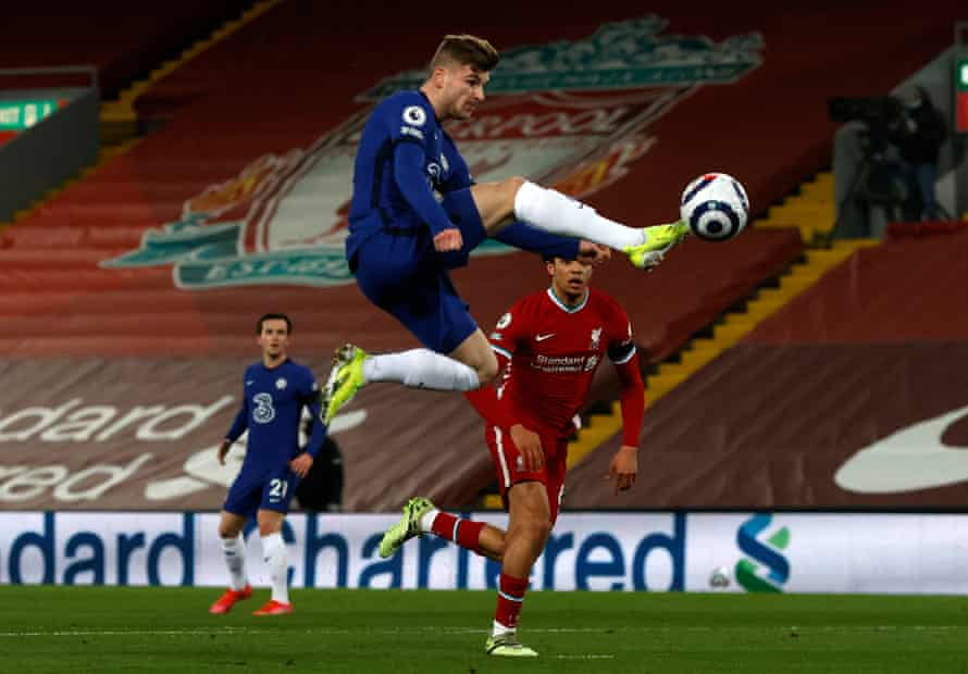 Timo Werner put in an impressive display for Chelsea at Anfield.