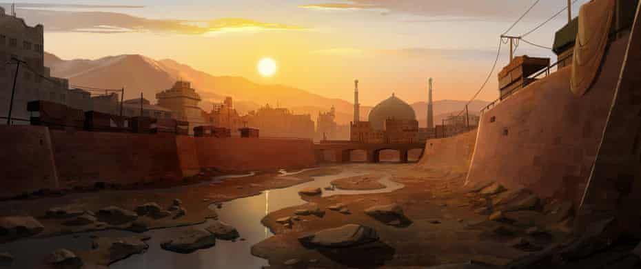 The 'honey light' of early morning Kabul as portrayed in The Breadwinner.